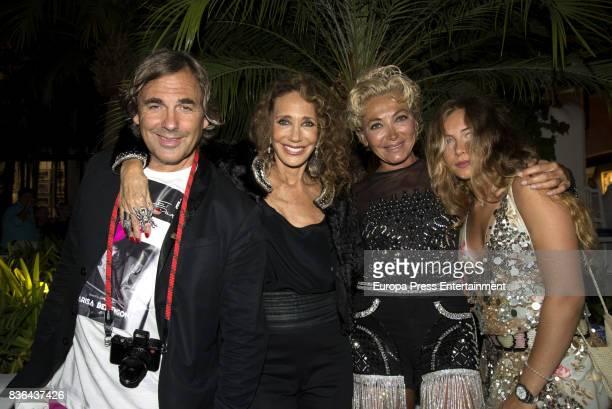 Hubertus Von Hohenlohe Marisa Berenson and Simona Gandolfi attend the Studio 54 Party in Marbella on July 28 2017 in Marbella Spain