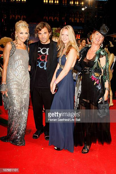 Hubertus von Hohenlohe Simona Gandolfi Francesca von Habsburg and daughter Eleonore of Austria attend the 18th Life Ball at the Town Hall on July 17...