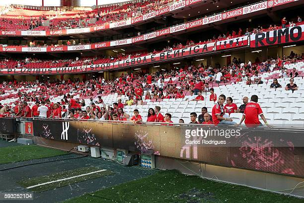 Hublot ad during the match between SL Benfica and Vitoria Setubal FC for the Portuguese Primeira Liga at Estadio da Luz on August 21 2016 in Lisbon...