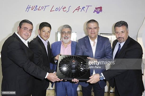 Hublot CEO, Ricardo Guadalupe, presents the new Hublot Cruz-Diez timepiece Hublot Art Basel kick off reception unveiling artist Carlos Cruz-Diez's...