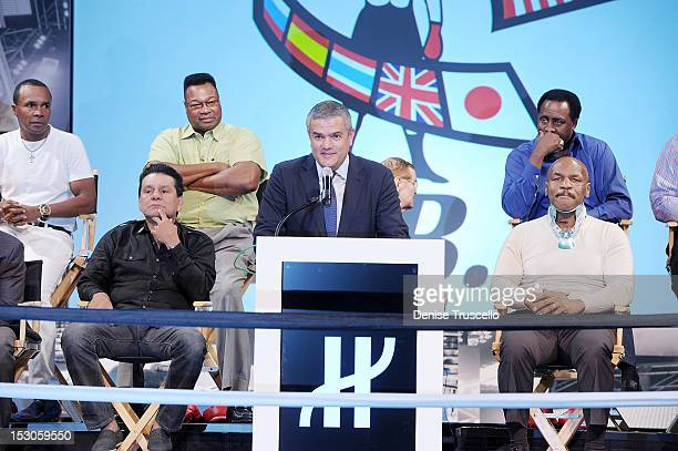 Hublot Ceo Ricardo Guadalupe WBC Presicent Jose Sulaiman Bob Sheridan and boxing champions Jose Cesar Chavez Roberto Duran Mike Tyson Jeff Fenech...