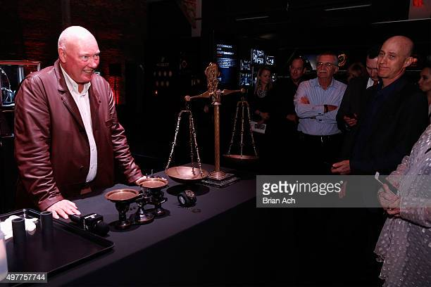 Hublot Chairman and President of LVMH Watch Division JeanClaude Biver speaks at the Hublot celebration of the Big Bang 10th anniversary with dinner...