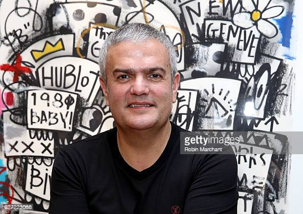 CEO Hublot Ricardo Guadalupe attends Hublot Cocktail Reception With Artist Flore at Miami Design District on December 2 2016 in Miami Florida