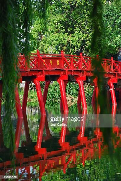 Huc Bridge in Hanoi's Hoan Kiem Lake