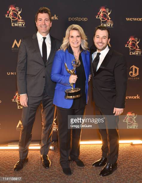 Huck Hackstedt, Liz Patrick, and Ken Cooper for 'The Ellen DeGeneres Show,' winners of the award for Outstanding Directing for a Talk Show,...