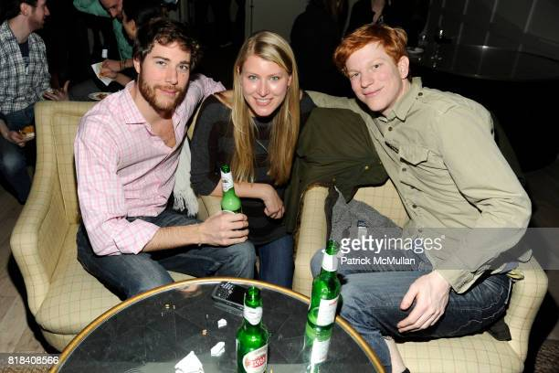 Hud Morgan Victoria Thompson and Luke Morgan attend SOHO HOUSE Super Bowl Party to Kick Off Fashion Week at Soho House on February 7 2010 in New York...