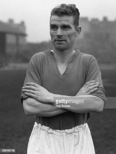 Huddersfield inside left Peter Doherty at Stamford Bridge where his team beat Chelsea 17th January 1914