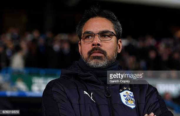 Huddersfield manager David Wagner during the Sky Bet Championship match between Huddersfield Town and Wigan Athletic at John Smith's Stadium on...