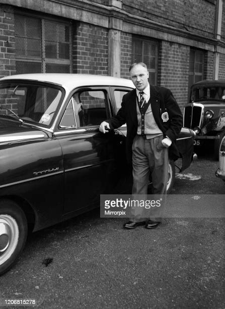 Huddersfield Town manager Bill Shankly arrives at the club's ground for a training session, 30th April 1959.