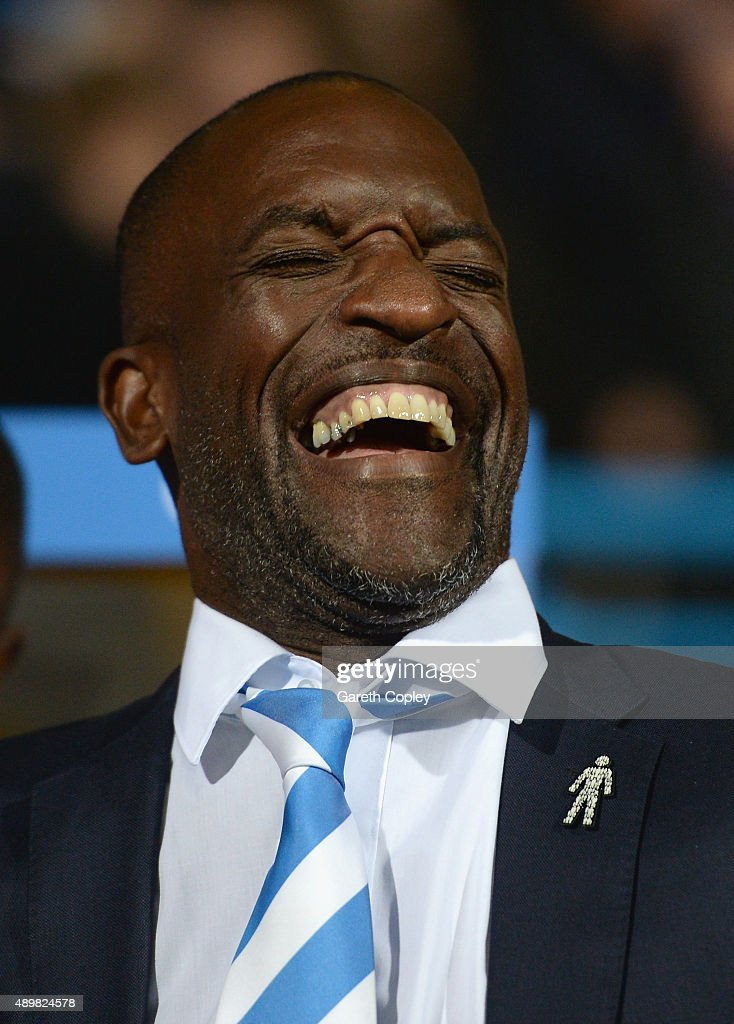 Huddersfield Town manager Chris Powell during the Sky Bet Championship match between Huddersfield Town and Nottingham Forest at John Smiths Stadium on September 24, 2015 in Huddersfield, England.
