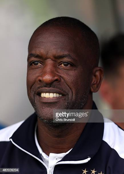 Huddersfield Town manager Chris Powell looks on during the pre season friendly match between Rochdale and Huddersfield Town at Spotland on July 18...