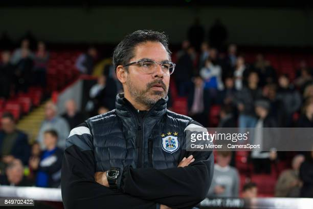 Huddersfield Town manager David Wagner during the Carabao Cup Third Round match between Crystal Palace and Huddersfield Town at Selhurst Park on...
