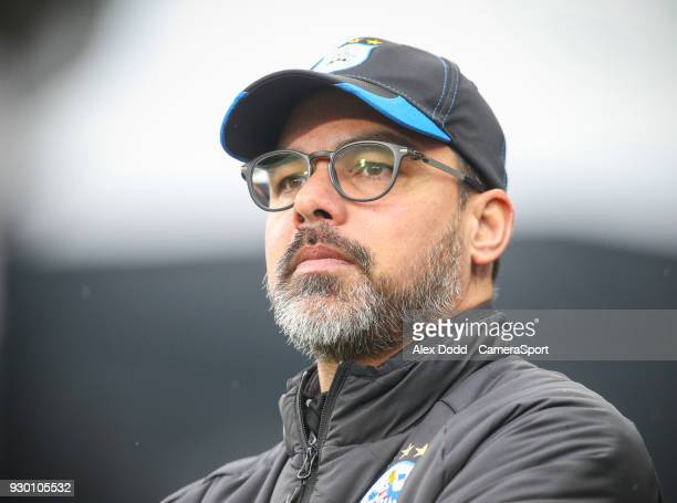 Huddersfield Town manager David Wagner during the Premier League match between Huddersfield Town and Swansea City at John Smith's Stadium on March 10...