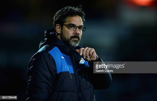 Huddersfield Town Manager David Wagner during the Sky Bet Championship match between Huddersfield Town and Charlton Athletic on January 12 2016 in...
