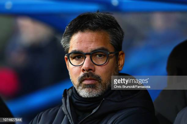 Huddersfield Town manager David Wagner looks on during the Premier League match between Huddersfield Town and Southampton FC at John Smith's Stadium...