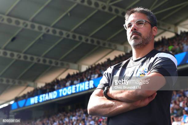 Huddersfield Town manager David Wagner looks on during the Premier League match between Huddersfield Town and Southampton at the John Smith's Stadium...