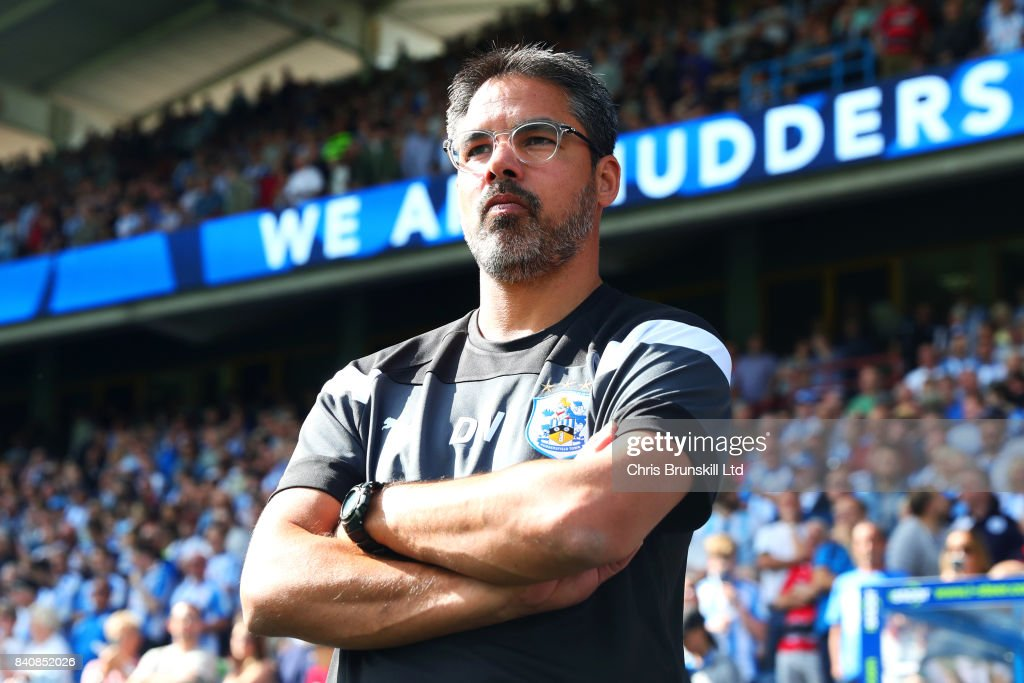 Huddersfield Town manager David Wagner looks on during the Premier League match between Huddersfield Town and Southampton at the John Smith's Stadium on August 26, 2017 in Huddersfield, England.
