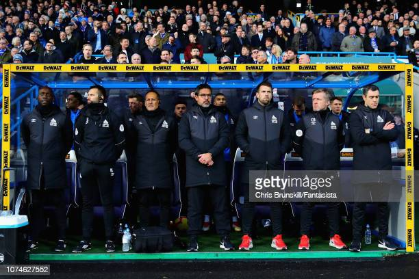 Huddersfield Town manager David Wagner looks on from the sidelines during the Premier League match between Huddersfield Town and Southampton FC at...