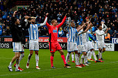huddersfield england huddersfield town players celebrate