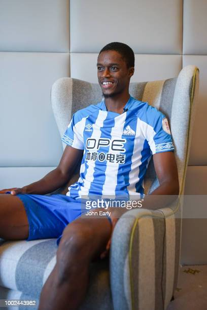 Huddersfield Town unveil new signing Adama Diakhaby on July 20 in Frankfurt Germany