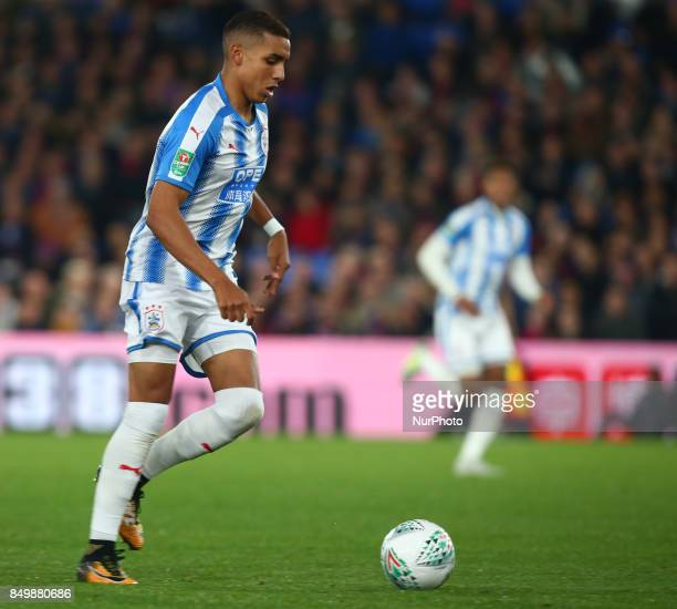 Huddersfield Town's Abdelhamid Sabiri during Carabao Cup 3rd Round match between Crystal Palace and Huddersfield Town at Selhurst Park Stadium London...