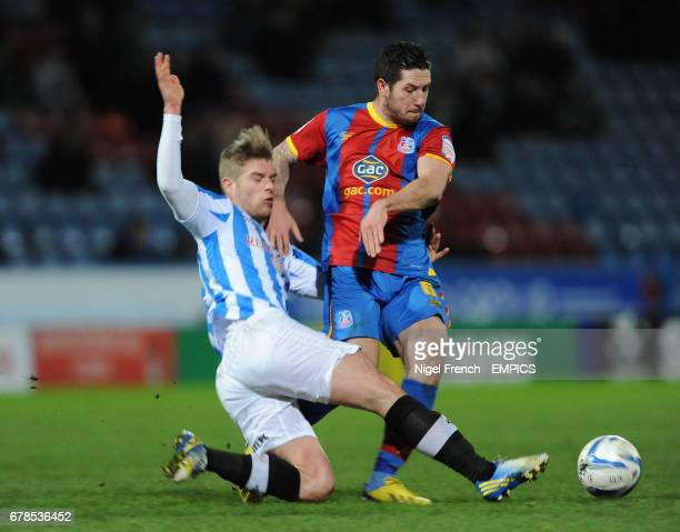 Huddersfield Town's Adam Clayton and Crystal Palace's Jacob Butterfield battle for the ball