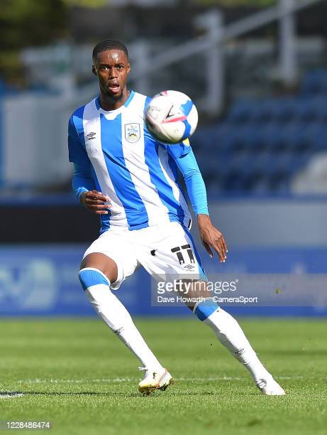 Huddersfield Town's Adama Diakhaby during the Sky Bet Championship match between Huddersfield Town and Norwich City at John Smith's Stadium on...
