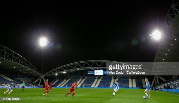 Huddersfield Town's Alex Pritchard attacks the Nottingham Forest half during the Sky Bet Championship match between Huddersfield Town and Nottingham...