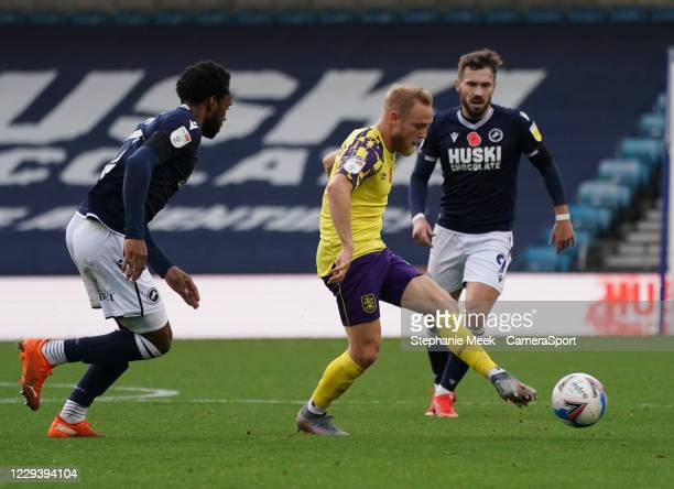 Huddersfield Town's Alex Pritchard during the Sky Bet Championship match between Millwall and Huddersfield Town at The Den on October 31, 2020 in...