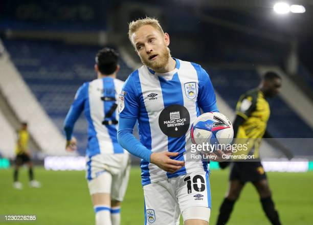 Huddersfield Town's Alex Pritchard during the Sky Bet Championship match between Huddersfield Town and Watford at John Smith's Stadium on December...