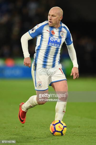 Huddersfield Town's Australian midfielder Aaron Mooy during the English Premier League football match between Huddersfield Town and West Bromwich...