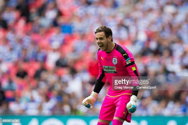Huddersfield Town's Danny Ward reacts during the EFL Sky Bet Championship PlayOff Final match between Huddersfield Town and Reading at Wembley...