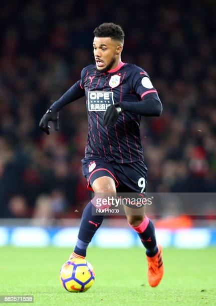 Huddersfield Town's Elias Kachunga in action during Premier League match between Arsenal and Huddersfield Town at Emirates Stadium London England on...