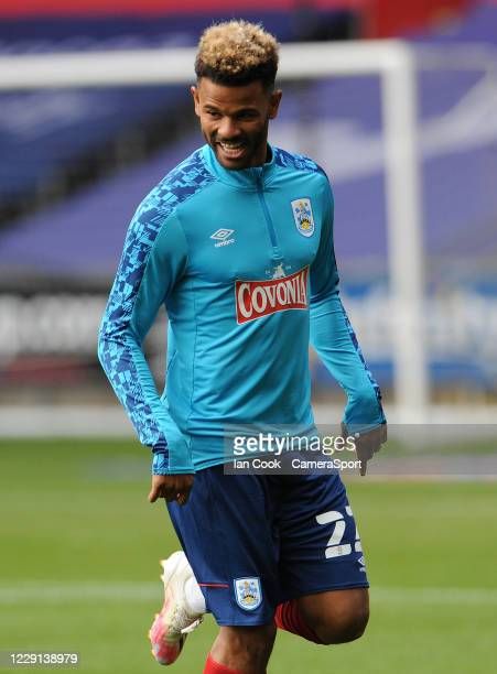 SWANSEA WALES OCTOBER Huddersfield Town's Fraizer Campbell during the prematch warmup during the Sky Bet Championship match between Swansea City and...