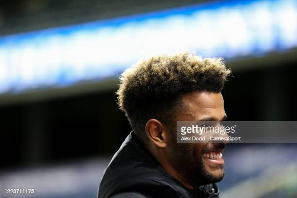 Huddersfield Town's Fraizer Campbell talks to Sky Sports after the match during the Sky Bet Championship match between Huddersfield Town and...