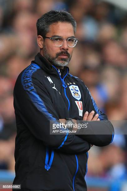 Huddersfield Town's German head coach David Wagner during the English Premier League football match between Huddersfield Town and Tottenham Hotspur...