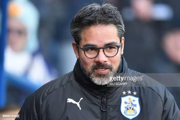 Huddersfield Town's German head coach David Wagner is seen ahead of kick off of the English Premier League football match between Huddersfield Town...