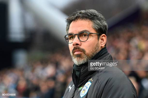 Huddersfield Town's German head coach David Wagner is seen during the English Premier League football match between Huddersfield Town and West Ham...
