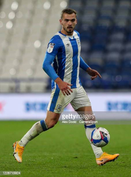 Huddersfield Town's Harry Toffolo during the Sky Bet Championship match between Huddersfield Town and Nottingham Forest at John Smith's Stadium on...
