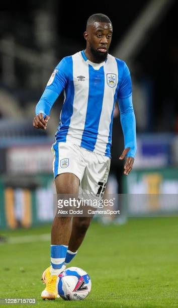 Huddersfield Town's Isaac Mbenza in action during the Sky Bet Championship match between Huddersfield Town and Nottingham Forest at John Smith's...