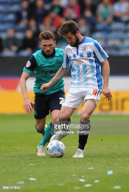 Huddersfield Town's Jacob Butterfield and Blackburn Rovers' Adam Hemley