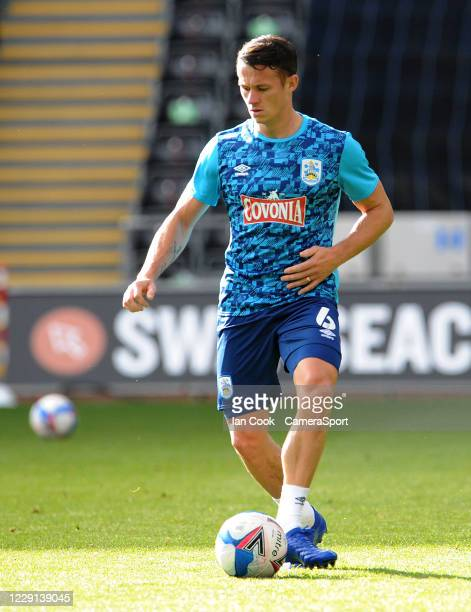 Huddersfield Town's Jonathan Hogg during the prematch warmup during the Sky Bet Championship match between Swansea City and Huddersfield Town at...