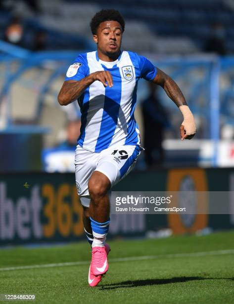 Huddersfield Town's Josh Koroma during the Sky Bet Championship match between Huddersfield Town and Norwich City at John Smith's Stadium on September...