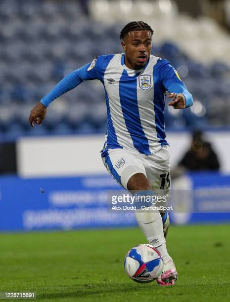 Huddersfield Town's Josh Koroma during the Sky Bet Championship match between Huddersfield Town and Nottingham Forest at John Smith's Stadium on...