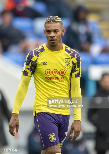 Huddersfield Town's Juninho Bacuna during the Sky Bet Championship match between Reading and Huddersfield Town at Madejski Stadium on May 8, 2021 in...