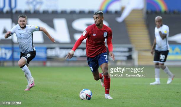 Huddersfield Town's Juninho Bacuna on the break during the Sky Bet Championship match between Swansea City and Huddersfield Town at Liberty Stadium...