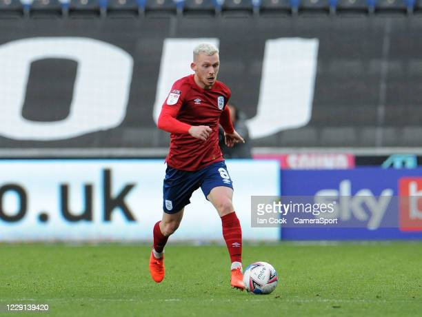 Huddersfield Town's Lewis O'Brien during the Sky Bet Championship match between Swansea City and Huddersfield Town at Liberty Stadium on October 17...