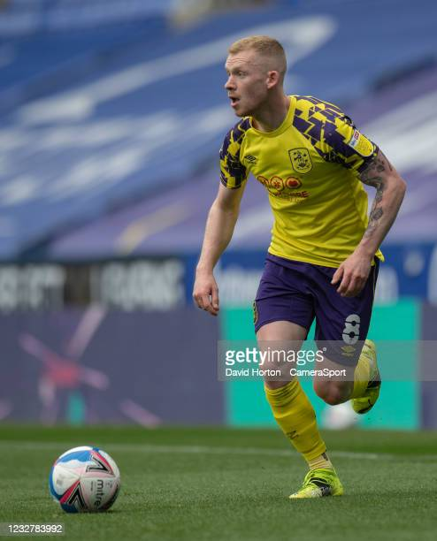Huddersfield Town's Lewis O'Brien during the Sky Bet Championship match between Reading and Huddersfield Town at Madejski Stadium on May 8, 2021 in...