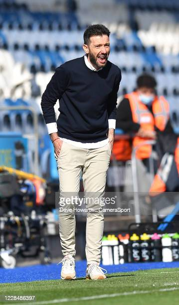 Huddersfield Town's Manager Carlos Corberan during the Sky Bet Championship match between Huddersfield Town and Norwich City at John Smith's Stadium...