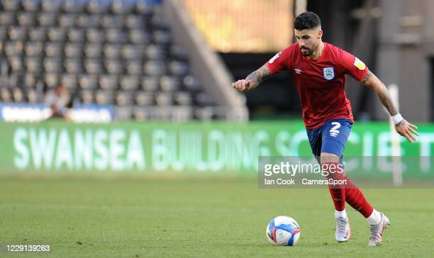 Huddersfield Town's Pipa during the Sky Bet Championship match between Swansea City and Huddersfield Town at Liberty Stadium on October 17 2020 in...